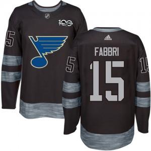 Robby Fabbri St. Louis Blues Men's Adidas Authentic Black 1917-2017 100th Anniversary Jersey