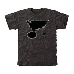 St. Louis Blues Men's Black Rink Warrior Tri-Blend T-Shirt