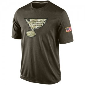 St. Louis Blues Men's Nike Olive Salute To Service KO Performance Dri-FIT T-Shirt