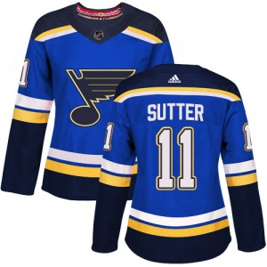 Brian Sutter St. Louis Blues Women's Adidas Authentic Royal Blue Home Jersey