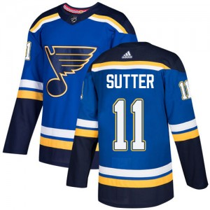 Brian Sutter St. Louis Blues Youth Adidas Authentic Royal Blue Home Jersey