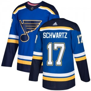 Jaden Schwartz St. Louis Blues Youth Adidas Authentic Royal Blue Home Jersey