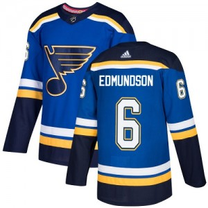 Joel Edmundson St. Louis Blues Youth Adidas Authentic Royal Blue Home Jersey