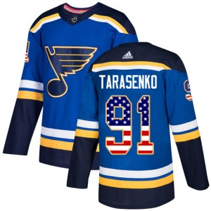 Vladimir Tarasenko St. Louis Blues Youth Adidas Authentic Blue USA Flag Fashion Jersey