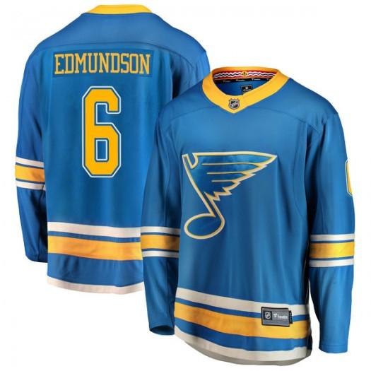 Joel Edmundson St. Louis Blues Men's Fanatics Branded Blue Breakaway Alternate Jersey