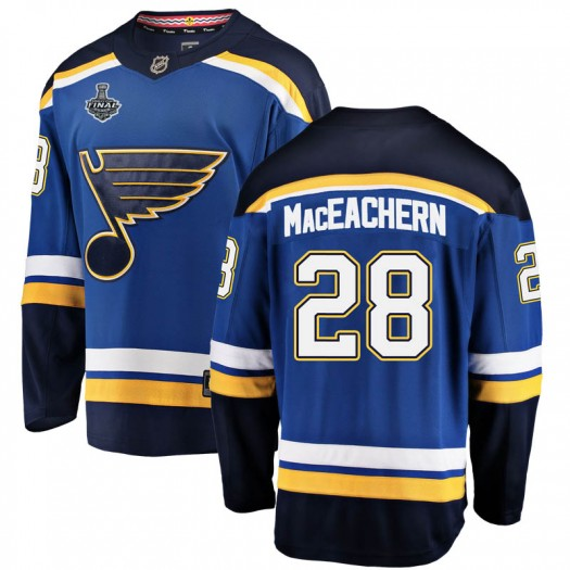 MacKenzie MacEachern St. Louis Blues Men's Fanatics Branded Blue Mackenzie MacEachern Breakaway Home 2019 Stanley Cup Final Boun