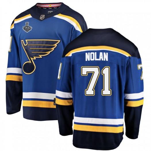 Jordan Nolan St. Louis Blues Men's Fanatics Branded Blue Breakaway Home 2019 Stanley Cup Final Bound Jersey