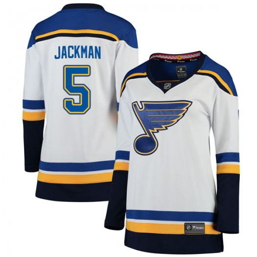 Barret Jackman St. Louis Blues Women's Fanatics Branded White Breakaway Away Jersey