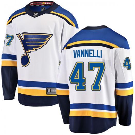 Tommy Vannelli St. Louis Blues Men's Fanatics Branded White Breakaway Away Jersey