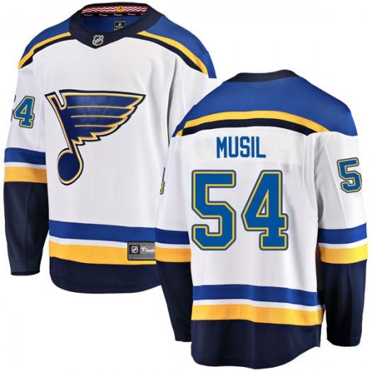 Adam Musil St. Louis Blues Youth Fanatics Branded White Breakaway Away Jersey