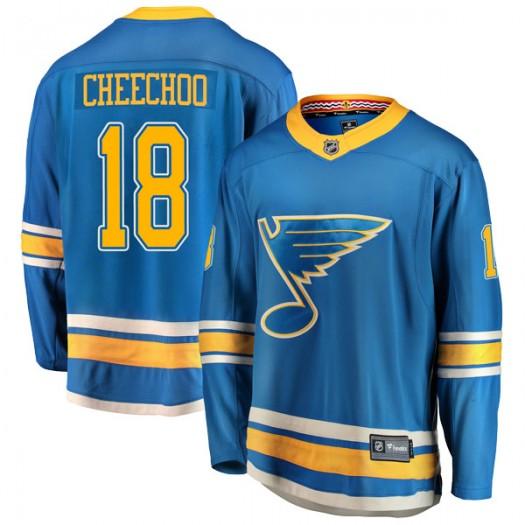 Jonathan Cheechoo St. Louis Blues Youth Fanatics Branded Blue Breakaway Alternate Jersey