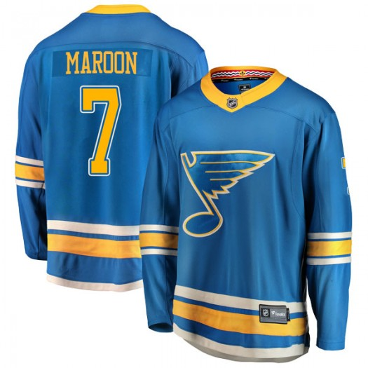 Patrick Maroon St. Louis Blues Youth Fanatics Branded Blue Breakaway Alternate Jersey
