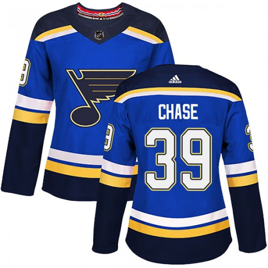 Kelly Chase St. Louis Blues Women's Adidas Authentic Blue Home Jersey
