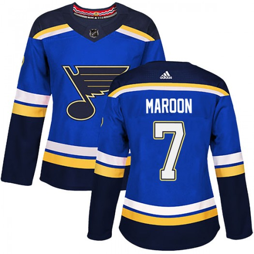 Patrick Maroon St. Louis Blues Women's Adidas Authentic Blue Home Jersey