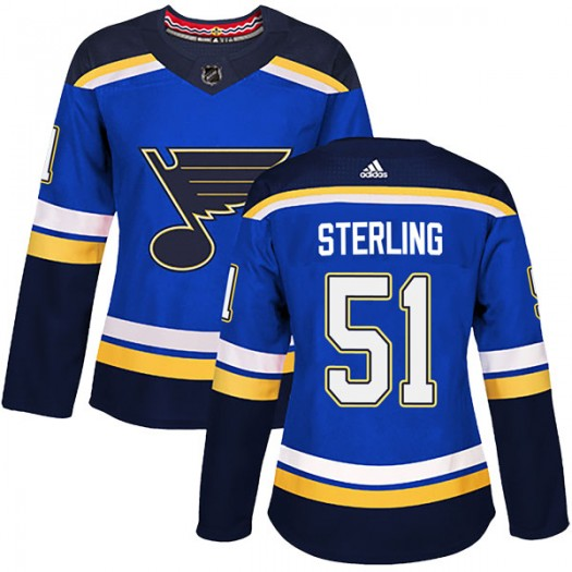 Brett Sterling St. Louis Blues Women's Adidas Authentic Blue Home Jersey