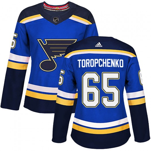 Alexey Toropchenko St. Louis Blues Women's Adidas Authentic Blue Home Jersey