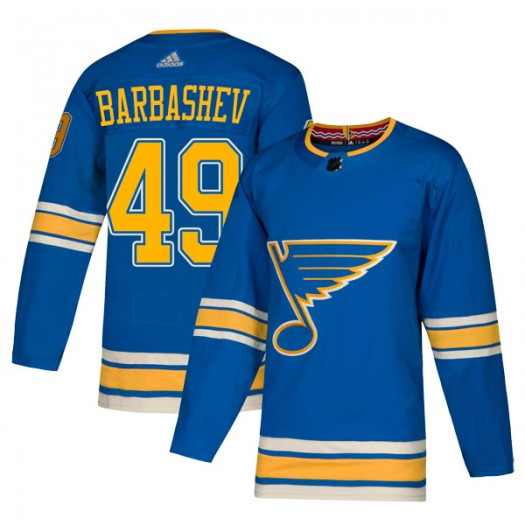 Ivan Barbashev St. Louis Blues Men's Adidas Authentic Blue Alternate Jersey