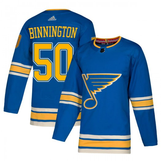 Jordan Binnington St. Louis Blues Men's Adidas Authentic Blue Alternate Jersey