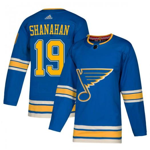 Brendan Shanahan St. Louis Blues Men's Adidas Authentic Blue Alternate Jersey