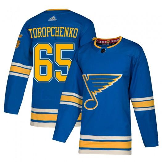 Alexey Toropchenko St. Louis Blues Men's Adidas Authentic Blue Alternate Jersey
