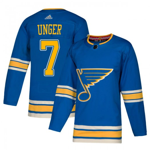 Garry Unger St. Louis Blues Men's Adidas Authentic Blue Alternate Jersey