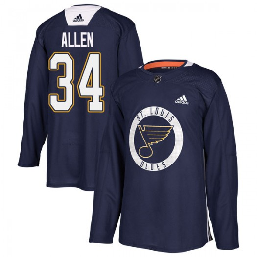 Jake Allen St. Louis Blues Youth Adidas Authentic Blue Practice Jersey