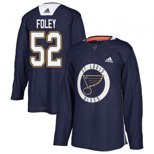 Erik Foley St. Louis Blues Youth Adidas Authentic Blue Practice Jersey