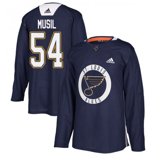 Adam Musil St. Louis Blues Youth Adidas Authentic Blue Practice Jersey