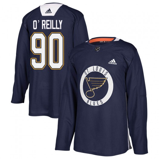 Ryan O'Reilly St. Louis Blues Youth Adidas Authentic Blue Practice Jersey