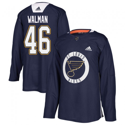 Jake Walman St. Louis Blues Youth Adidas Authentic Blue Practice Jersey
