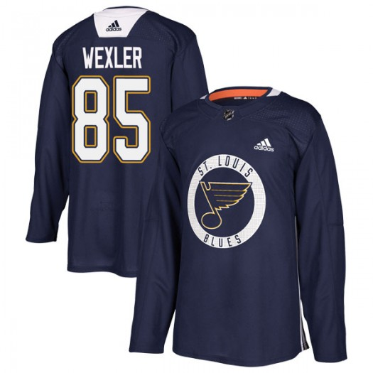 Ben Wexler St. Louis Blues Youth Adidas Authentic Blue Practice Jersey