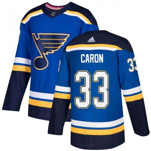 Jordan Caron St. Louis Blues Men's Adidas Authentic Blue Home Jersey