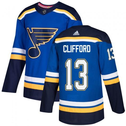 Kyle Clifford St. Louis Blues Men's Adidas Authentic Blue Home Jersey
