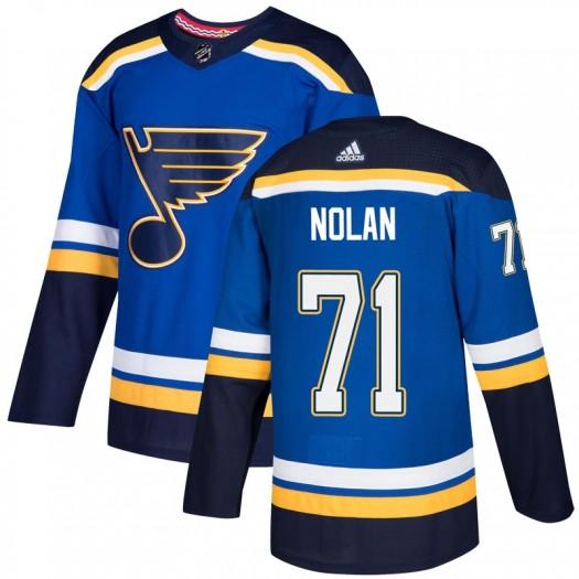 Jordan Nolan St. Louis Blues Men's Adidas Authentic Blue Home Jersey