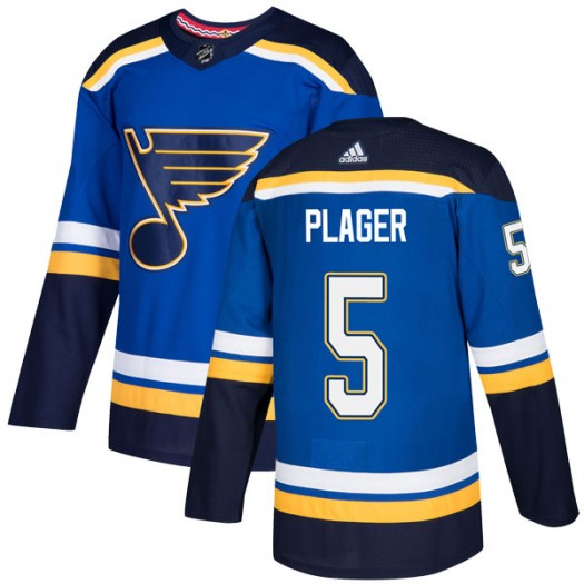 Bob Plager St. Louis Blues Youth Adidas Authentic Blue Home Jersey