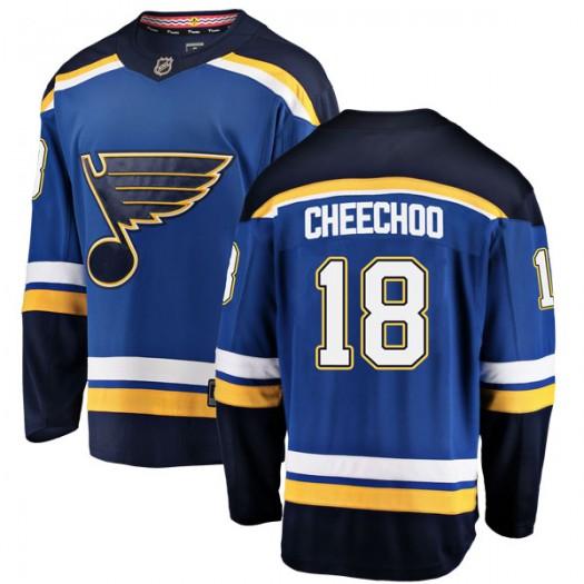 Jonathan Cheechoo St. Louis Blues Youth Fanatics Branded Blue Breakaway Home Jersey