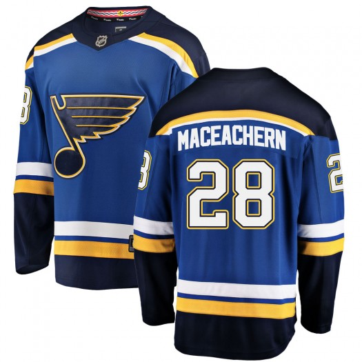 MacKenzie MacEachern St. Louis Blues Youth Fanatics Branded Blue Mackenzie MacEachern Breakaway Home Jersey