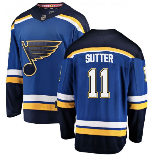 Brian Sutter St. Louis Blues Youth Fanatics Branded Blue Breakaway Home Jersey