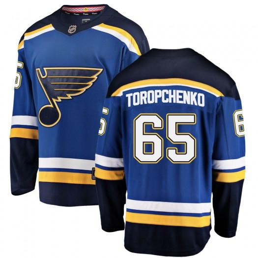 Alexey Toropchenko St. Louis Blues Youth Fanatics Branded Blue Breakaway Home Jersey