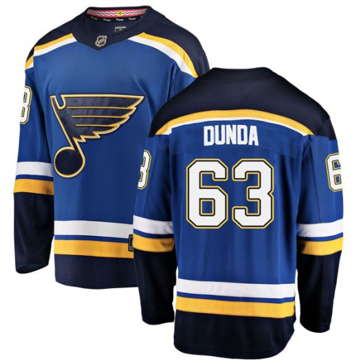 Liam Dunda St. Louis Blues Men's Fanatics Branded Blue Breakaway Home Jersey