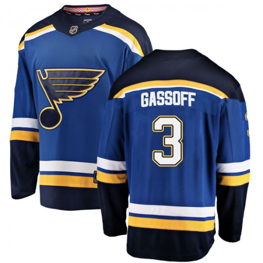Bob Gassoff St. Louis Blues Men's Fanatics Branded Blue Breakaway Home Jersey