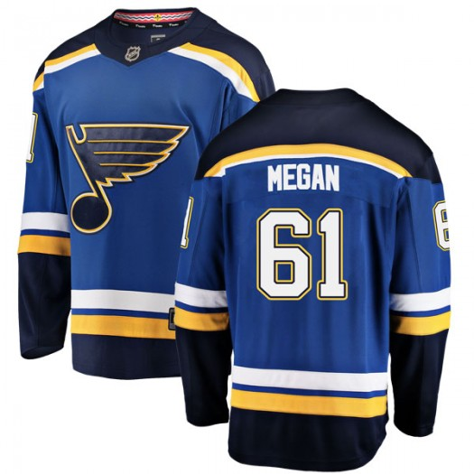 Wade Megan St. Louis Blues Men's Fanatics Branded Blue Breakaway Home Jersey
