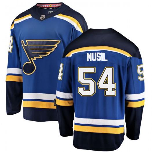 Adam Musil St. Louis Blues Men's Fanatics Branded Blue Breakaway Home Jersey