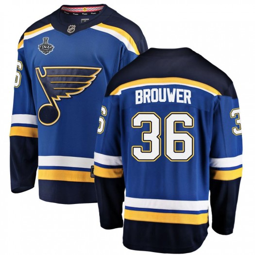 Troy Brouwer St. Louis Blues Youth Fanatics Branded Blue Breakaway Home 2019 Stanley Cup Final Bound Jersey