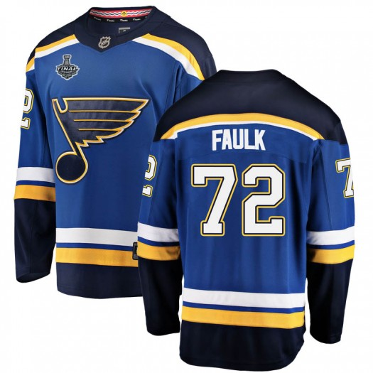 Justin Faulk St. Louis Blues Youth Fanatics Branded Blue Breakaway Home 2019 Stanley Cup Final Bound Jersey