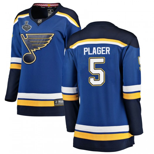 Bob Plager St. Louis Blues Women's Fanatics Branded Blue Breakaway Home 2019 Stanley Cup Final Bound Jersey