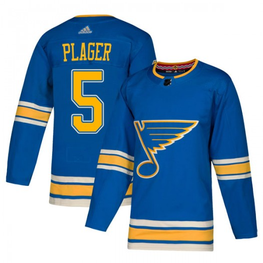 Bob Plager St. Louis Blues Youth Adidas Authentic Blue Alternate Jersey