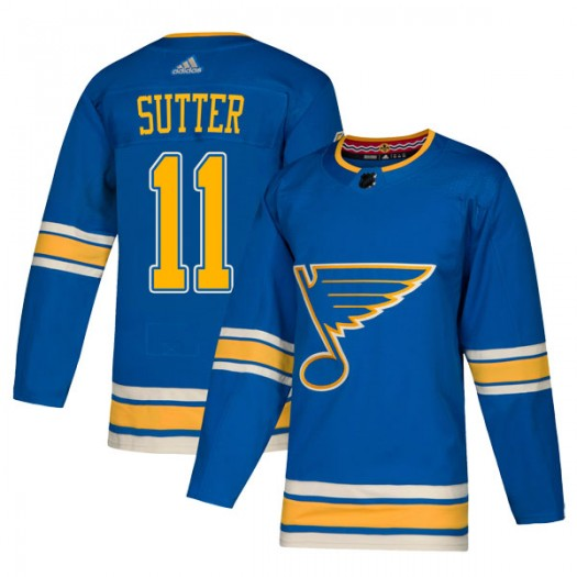 Brian Sutter St. Louis Blues Youth Adidas Authentic Blue Alternate Jersey