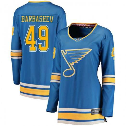 Ivan Barbashev St. Louis Blues Women's Fanatics Branded Blue Breakaway Alternate Jersey