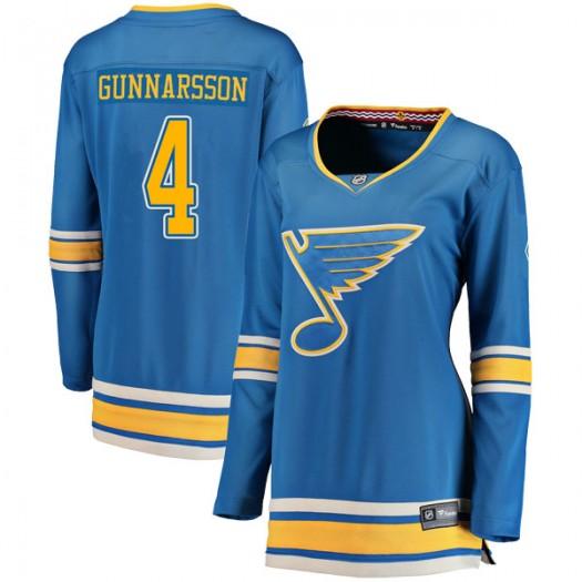 Carl Gunnarsson St. Louis Blues Women's Fanatics Branded Blue Breakaway Alternate Jersey